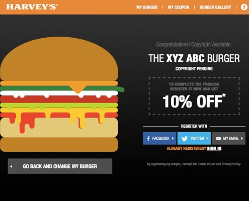 Harvey's - web app