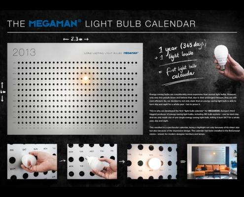 Megaman Light Bulb - calendario