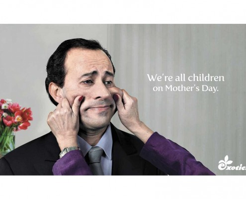 We're all children on Mother's Day - Exotica - campagna pubblicitaria