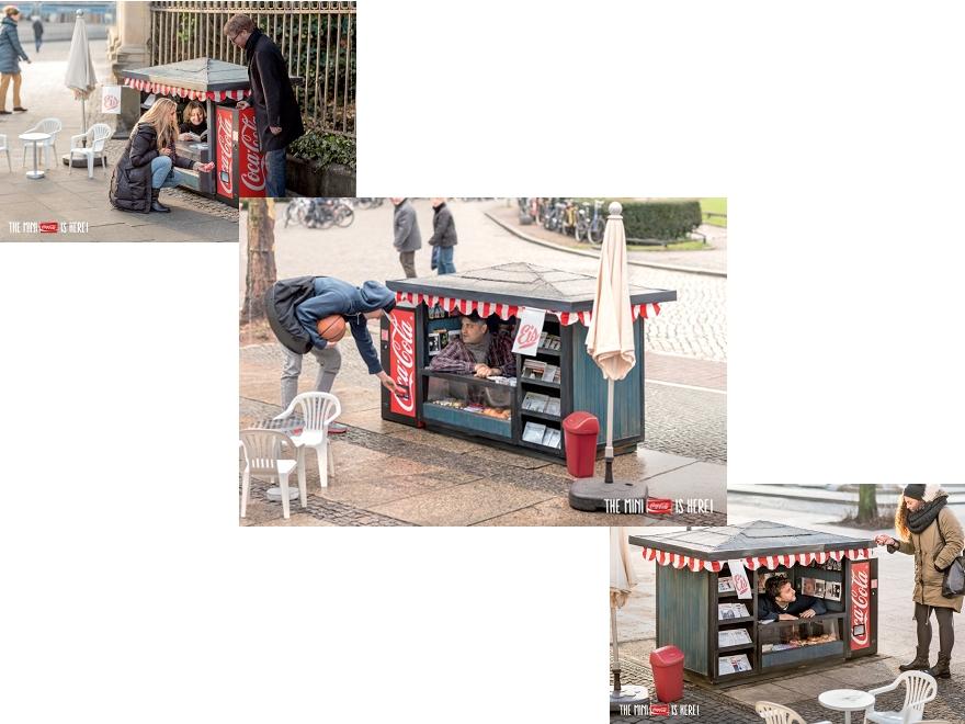 Coca Cola Mini Kiosk - ambient marketing
