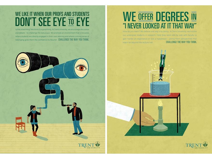 Trent University - campagna pubblicitaria 3 e 4