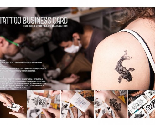 Painel Tatoo Studio - business card