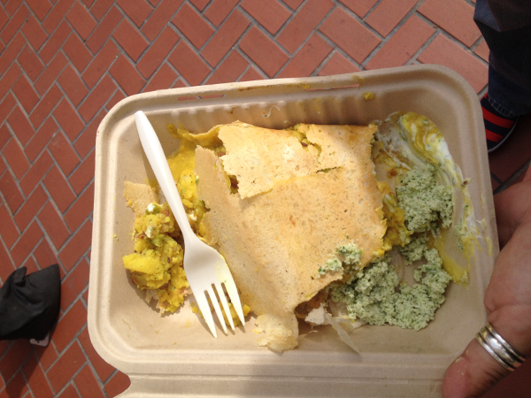 San Francisco - indian street food - dosas © Alessandra Colucci