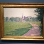 Oxford - Ashmolean Museum - Lucien Pissarro - Eragny Church © Alessandra Colucci