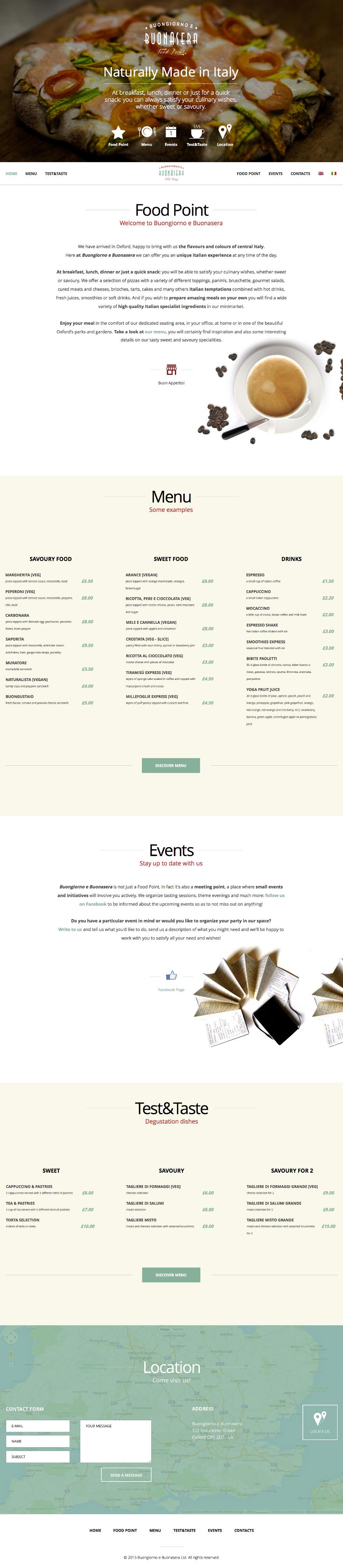 Buongiorno e Buonasera - website
