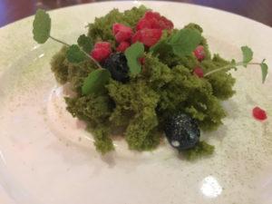 Tate Modern - Cooking in Motion - matcha sponge cake