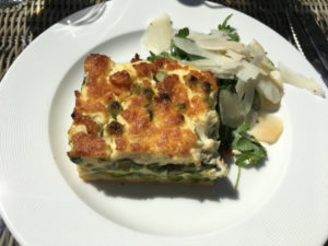 Burford - Bay Tree Restaurant - asparagus and pea quiche