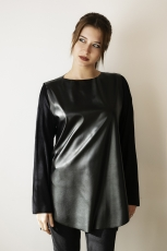 Asymétrie - blusa ecopelle