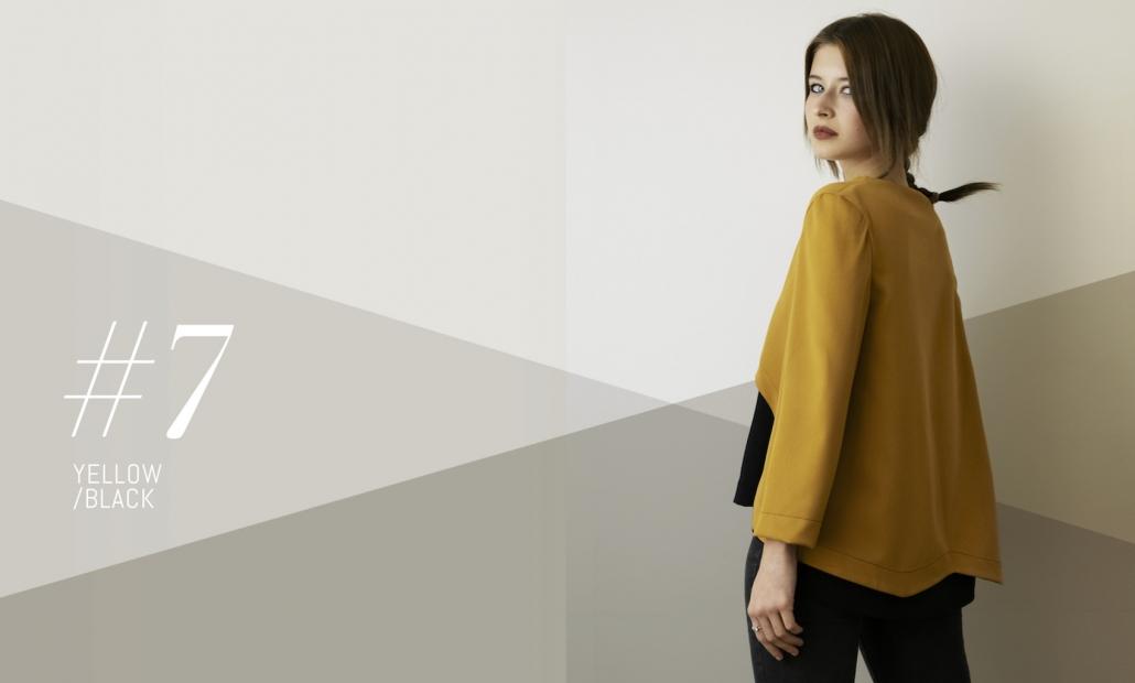 Asymétrie - blusa senape