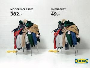 Ikea - campagna pubblicitaria fritz hansen vs svenbertil