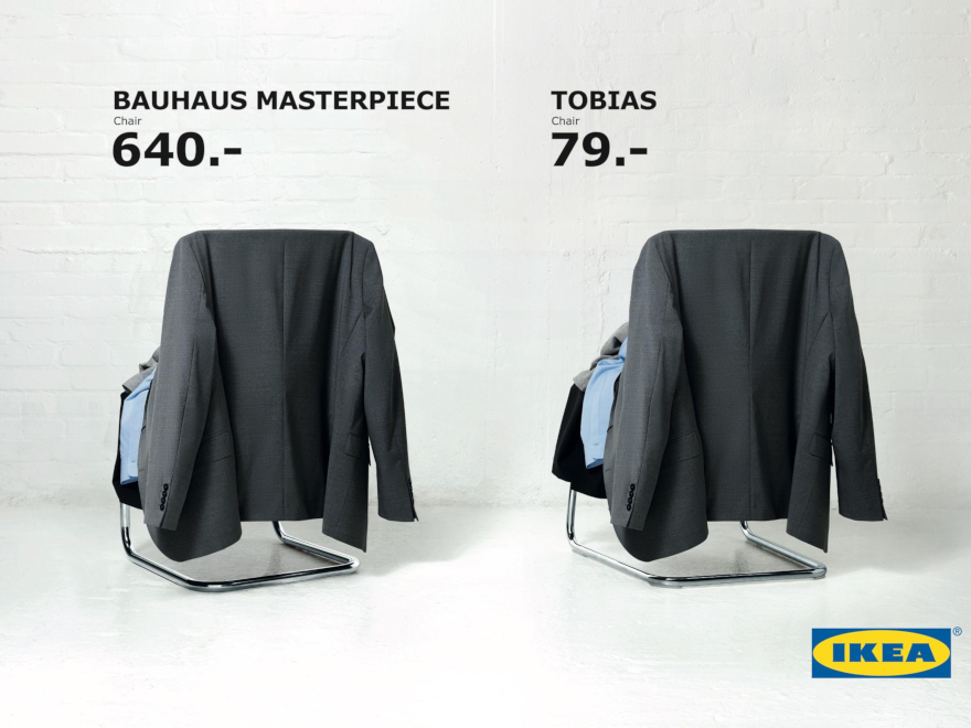 Ikea - campagna pubblicitaria thonet vs tobias