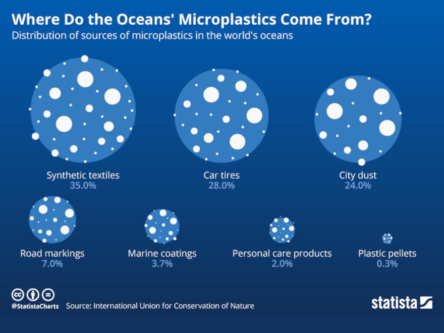 Statista - microplastiche